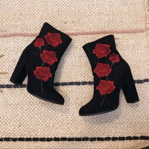 "intentionally blank ""Rosa"" embroidered booties"